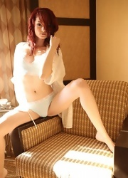 Kylie Strips In Her Robe - Picture 4